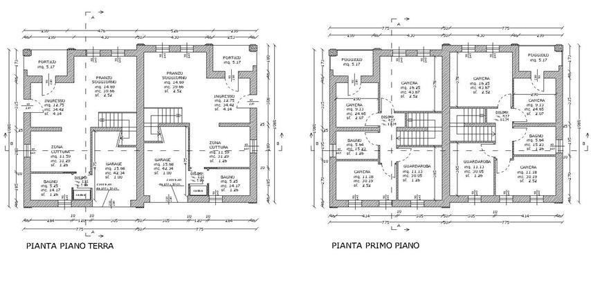 In fase di costruzione porzione di bifamiliare dagli ampi spazi interni ingresso cucina - Planimetria camera da letto ...