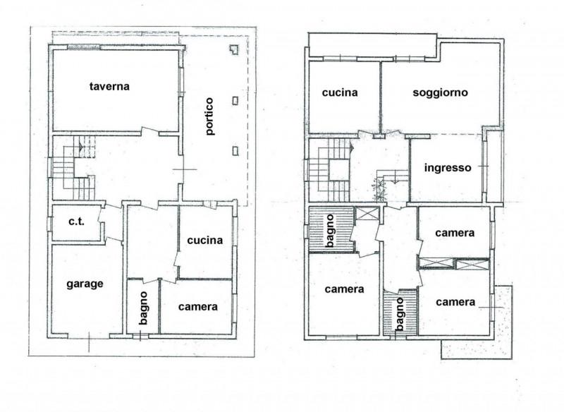 Casa singola in vendita a carbonera biban soggiorno for Piani di garage di cottage