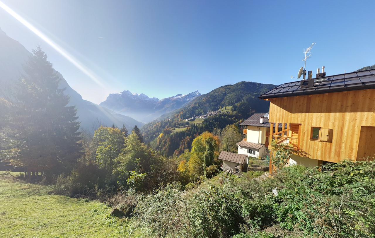 Nuovo chalet indipendente nelle Dolomiti - vista panoramica
