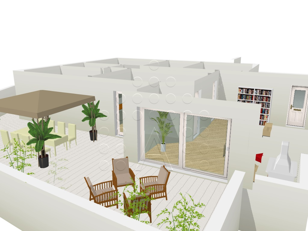 Prestigioso attico con terrazzo abitabile in zona centrale di Abano Terme