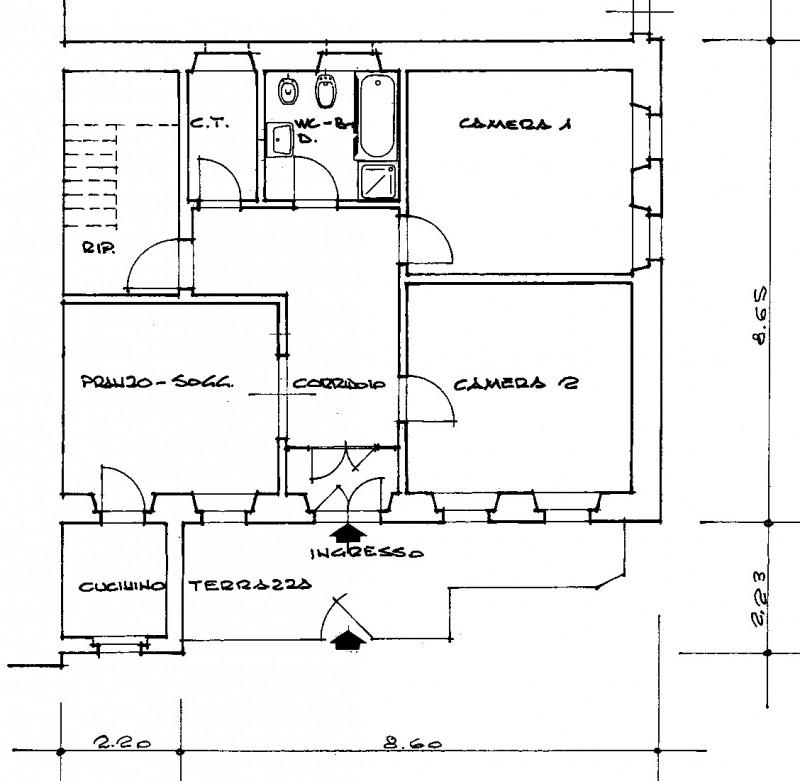 vendita appartamento auronzo di cadore villapiccola  130000 euro  3 locali  98 mq