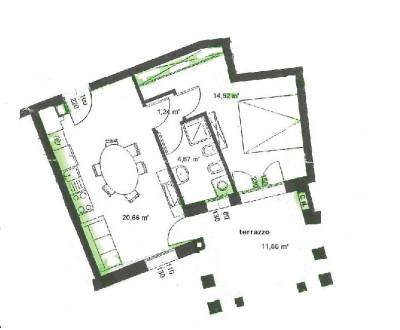 Mini appartamento in affitto a Bragni non arredato