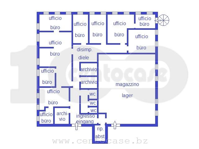 Trento, zona Commerciale, ampio ufficio