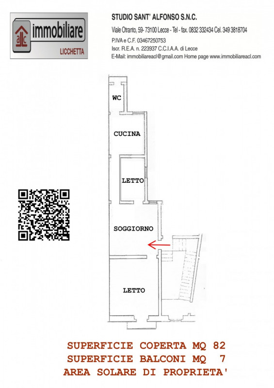 Appartamento LECCE vendita  Ponticelli Via Gioacchino Rossini 42 Studio Sant