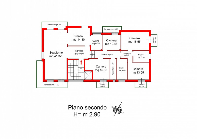 APPARTAMENTO QUADRICAMERE - https://media.gestionaleimmobiliare.it/foto/annunci/171215/1707769/800x800/034__piano_secondo_via_quadri_Vicenza.jpg