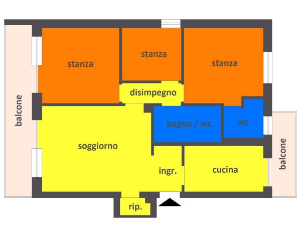 Quadrilocale con cucina, VIA ROMA, rif: 11403