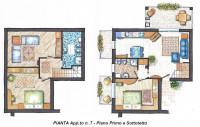 Appartamento duplex con 3 camere e 2 bagni zona Piazza Marina Jesolo Lido.