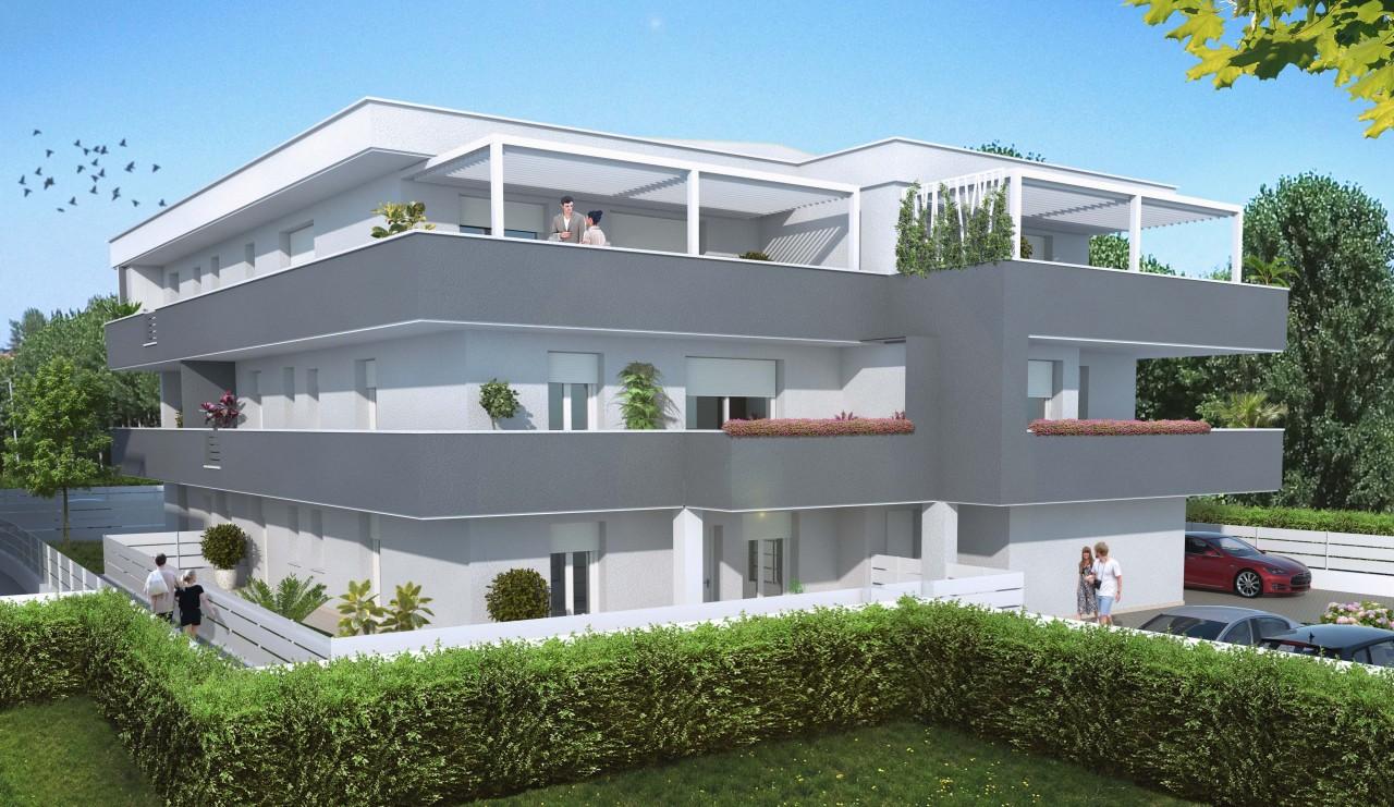 Nuovo appartamento al piano terra con due camere e giardino di 260mq.