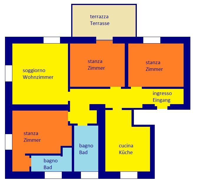 Quadrilocale in buone condizioni in vendita Rif. 9599084