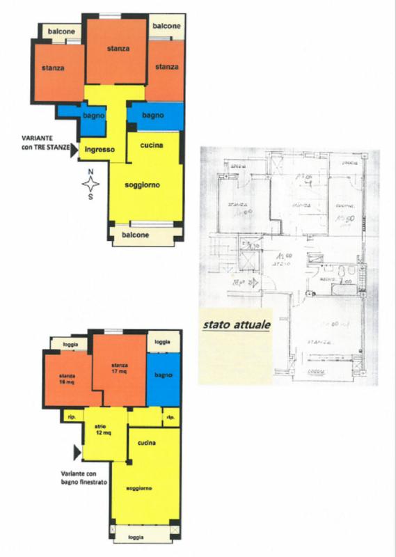 Trilocale in buone condizioni in vendita Rif. 10471135