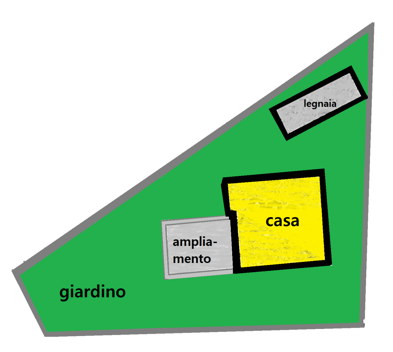 Casa singola con giardino privato, rif: 12731