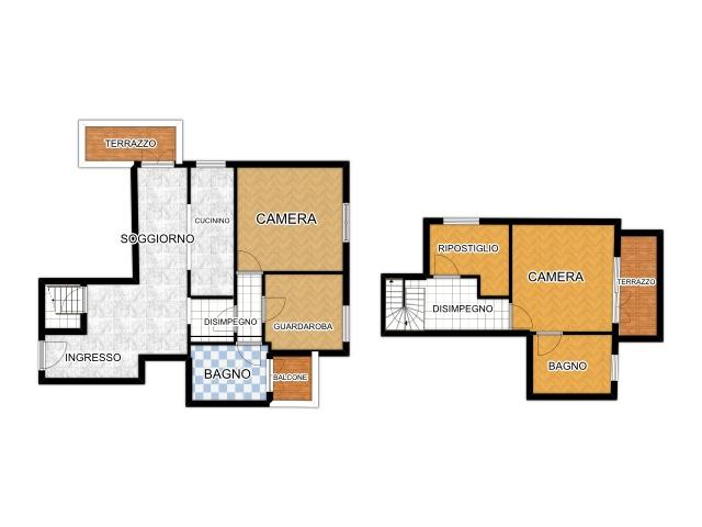 L497 Appartamento 3 camere duplex in affitto ad Abano Terme Array